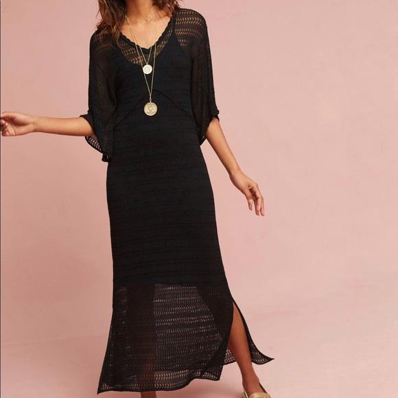 ffcc1c51de7 Anthropologie Maeve Dress Small Black kimono S